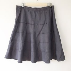 Soft Surroundings Gray Linen Summer Fun Skirt